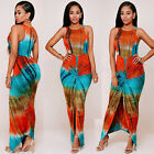 NEW Summer Women Formal Dresses Long Boho Maxi Bodycon Evening Party Print Dress