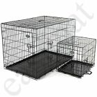 Dog Puppy Metal Training Cage Crate Black Carrier S M L XL XXL sizes Easipet