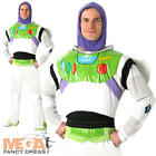 Buzz Lightyear Mens Fancy Dress Disney Space Man Toy Story Adult Costume Outfit