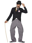 Comedy Charlie Chaplin 1920's Silent Movie Star Suit Fancy Dress Costume