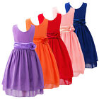 Flower Girls Kids Toddler Baby Princess Party Chiffon Wedding Tulle Tutu Dresses