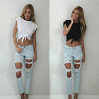 CHIC Fashion Women Summer Sleeveless Tee Blouse Casual Crop Tops T-Shirt Shirt