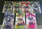 Power Rangers 0 7 Boom Complete set White Green Red Pink Black Yellow Blue Rare