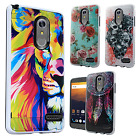 For ZTE Max XL N9560 Premium Brushed Metal HYBRID Rubber Case Snap Phone Cover