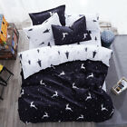 Black White Deer Bed Quilt Cover Duvet Cover Set  Single Queen King Size