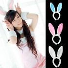 Cute Long Bunny Rabbit Ears Fluffy Plush Hairband Headband Prom Party Cosplay