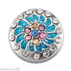 Wholesale Snap Button Fit Snap Bracelet Colorful Rhinestone Windmill 12mm