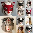 Cosplay Tassel Masks Fancy Dress Eye Masquerade Gothic Women Lace Face Veil