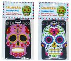 Day Of The Dead Luggage Tag PVC Funky Novelty Skull Rubber Suitcase Label