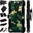 For Alcatel Huawei ZTE Rugged Phone Cover Holster HybridCase GREEN CAMO LuxGuard