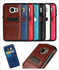 Unisex Luxury PU Leather Phones Guardian Back Cover w/Card Holder For Cellphones