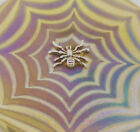 Neo Art Glass spider disk paperweights sterling silver spider signed K.Heaton