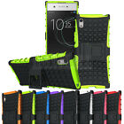 For Sony Xperia XA1 Hybrid Rugged Armor Case Shockproof Kickstand Phone Cover