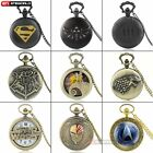 Antique Punk Retro Vintage Pocket Watch Quartz Pendant Necklace Vintage Chain image