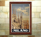 Milano - Vintage Italian Travel Poster [6 sizes, matte+glossy avail]