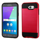 Samsung Galaxy Express Prime 2 Brushed Metal HYBRID Case Cover +Screen Guard