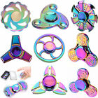 Tri Fidget Hand Spinner Colorful Metal EDC ADHD Autism Gyro Stress Focus Toy