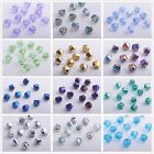 10/72pcs 10mm Faceted Glass Crystal Charm Helix/Twist Loose Spacer Beads DIY