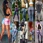 Women Stretch Fitness Yoga Leggings High Waist Pants Running Gym Sports Trousers