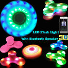 Bluetooth Speaker LED Fidgets Spinner EDC Fidget Gyro Toys Anti-stress 8 Colors