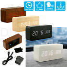 Kyпить Modern Wooden Alarm Clock Wood USB/AAA Digital LED Calendar Thermometer Bedroom на еВаy.соm