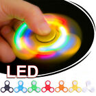 LED light Fidget Hand Spinner Torqbar Brass Finger Toy EDC Focus Gyro Gift