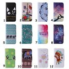 Stylish Print Design Folio Card Holder Stand Protective Case Cover For Samsung