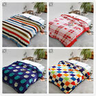 Checked Blankets Single/Double/Queen Size Bed Linen Soft Warm Flannel Comforter