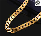 Unisex Men&Women Stainless Steel 4-10mm Long Chain Pendant Necklace Gold Link