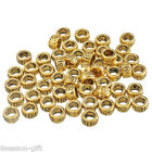 Wholesale Lots Gold Carved Round Spacers Beads 4*7mm  big hole6mm