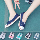 Women Low Top Casual Sneakers Running Breathable Leisure Flats Canvas Shoes New