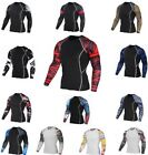 Men Sports Quick Dry Compression Long Sleeves Fitness Cycling Clothing Bodybuild