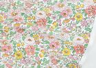 Flower world 100% COTTON FABRIC (By The Yard) Pink Floral Quilting ff030<*