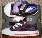 New! Toddler Girls Converse Shoes (Chuck Taylor; Glittery Purple) - Sizes 5, 7