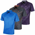 Island Green Mens Digi Detail CoolPass Tech Golf Polo Shirt 50% OFF RRP