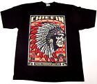 CHIEFIN T-Shirt Native American Indian Chief Tee Adult L-4XL Black New