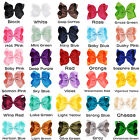 6 inch Large Big Girl Baby Boutique Hair Accessory Knot Hair Bow Alligator Clip