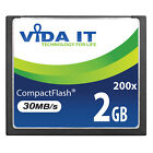 Vida IT 2GB CF Compact Flash Memory Card High Speed 200X 30MB/s For SLR Camera