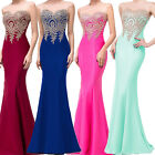 US Women Boho Formal Evening Prom Ball Gowns Party Bridesmaid Wedding Maxi Dress