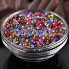 200pcs 4X3mm Lacquer Plated Faceted Rondelle Crystal Glass Loose Spacer Beads