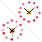 Romantic Cloth Rose DIY Wall Clock Mute Home Decorations Simple Plastic Clock