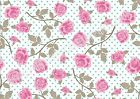 A4 Edible printed sheet Wafer Card Icing cake  ZZ19 Shabby pink rose