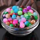 30pcs 10X8mm Faceted Rondelle Lacquer Coated Glass Loose Spacer Beads