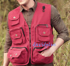 Fashion Men Cargo Baggy Casual Photograther Fisher Work Jacket Coat Summer SZ