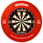 Winmau Blade 5 FIVE DUAL CORE Dart Board & Surround Green Orange Red Black White