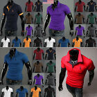 US STOCK Men NEW Casual POLO T-shirt Lapel Short Sleeve Sport Golf  POLO Tops