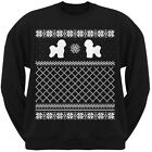 Bichon Frise Black Adult Ugly Christmas Sweater Crew Neck Sweatshirt