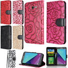 Samsung Galaxy J7 PRIME J7V ROSE Leather Wallet Case Flip Cover + Screen Guard