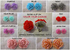 Ruffled Rose Clip On Earrings *OPTION* Handmade Silver Clips