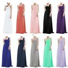 Elegant Womens Long Chiffon Evening Formal Cocktail Party Bridesmaid Gown Dress
